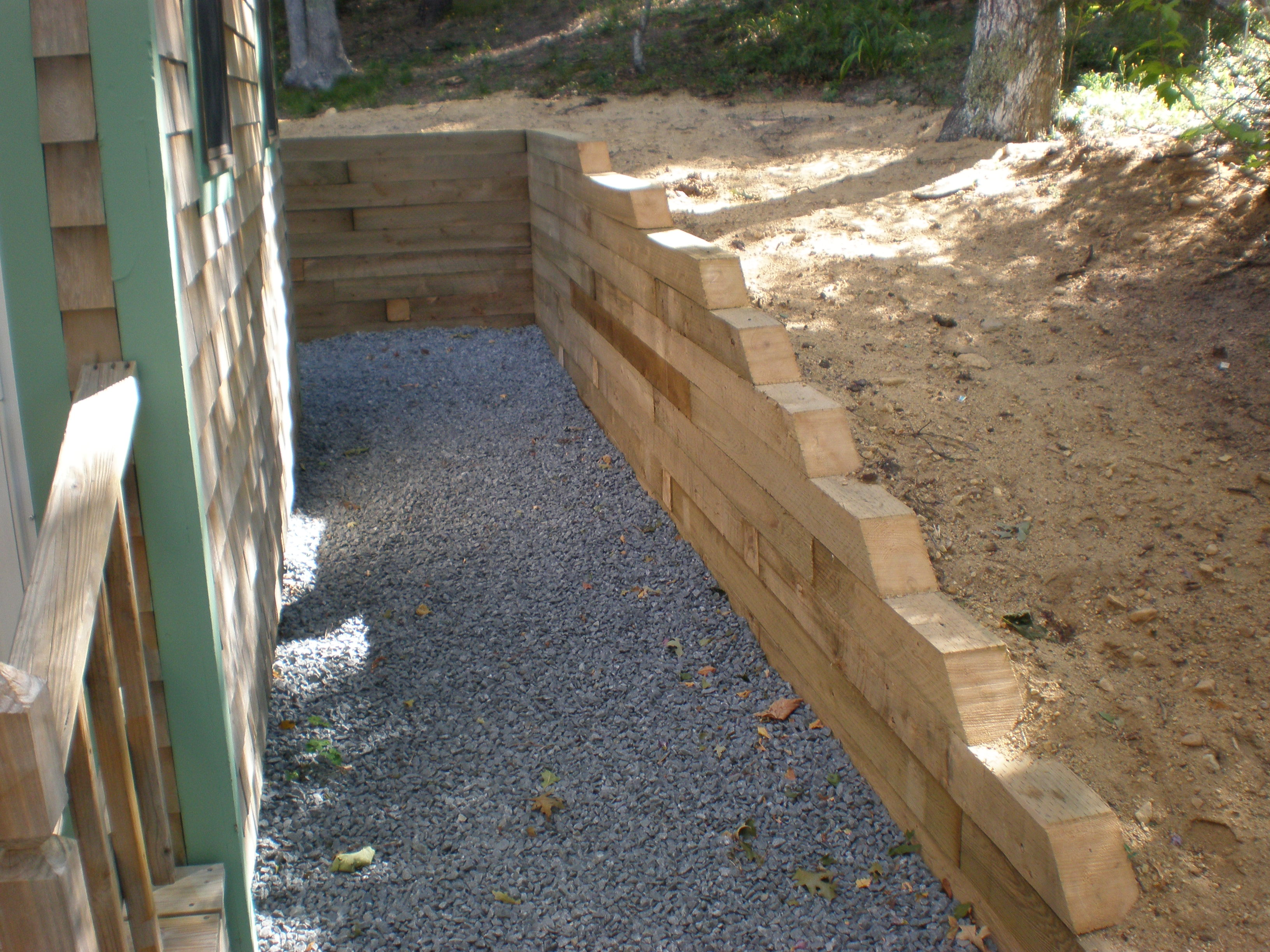 Cape Cod Hardscape Landscape Construction Retaining Wall